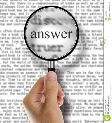 answer-magnifying-glass-over-newspaper-book-classified-section-text-44969003