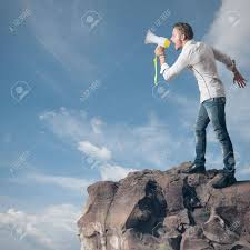 Image result for screaming from a mountain