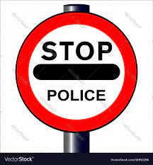 Stop police sign Royalty Free Vector Image - VectorStock